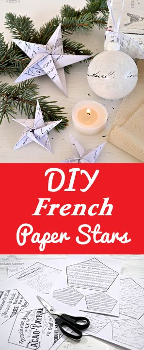 DIY French Paper Stars Diana Dreams Factory Graphics Fairy