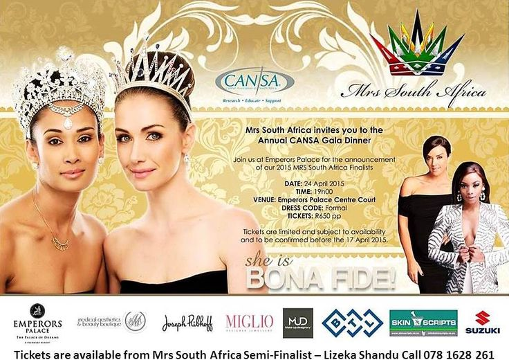 Cansa Gala Dinner 2015 Tickets Are Still Available