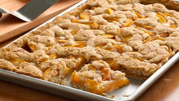 Easiest-Ever Peach Slab Pie