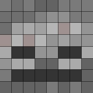Skeleton face: Minecraft quilt block