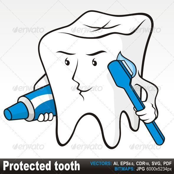Protected tooth - Miscellaneous Characters