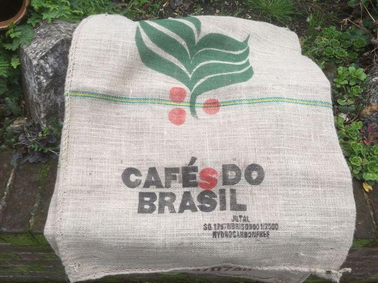 Used Coffee Bean Hessian Sacks 10 Brazil Cafe Upholstery Jute Cushion Bench Seat    eBay