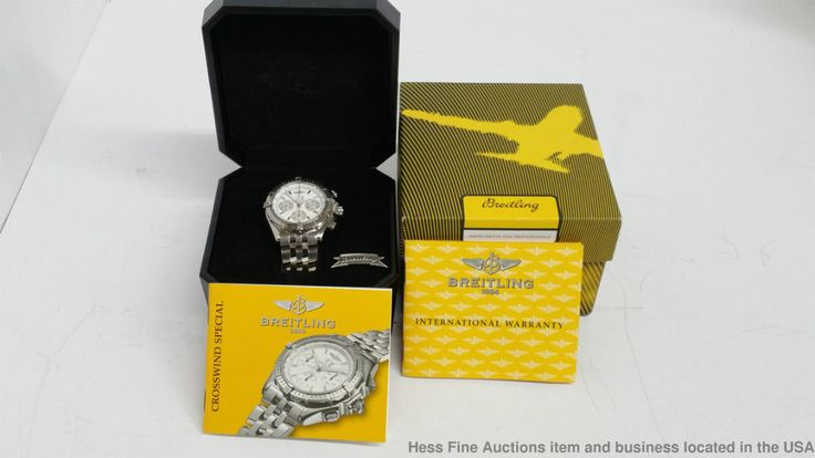 Breitling Crosswind Chronograph A44355 Automatic Men's Wrist Watch Box & Paper #Breitling #Casual