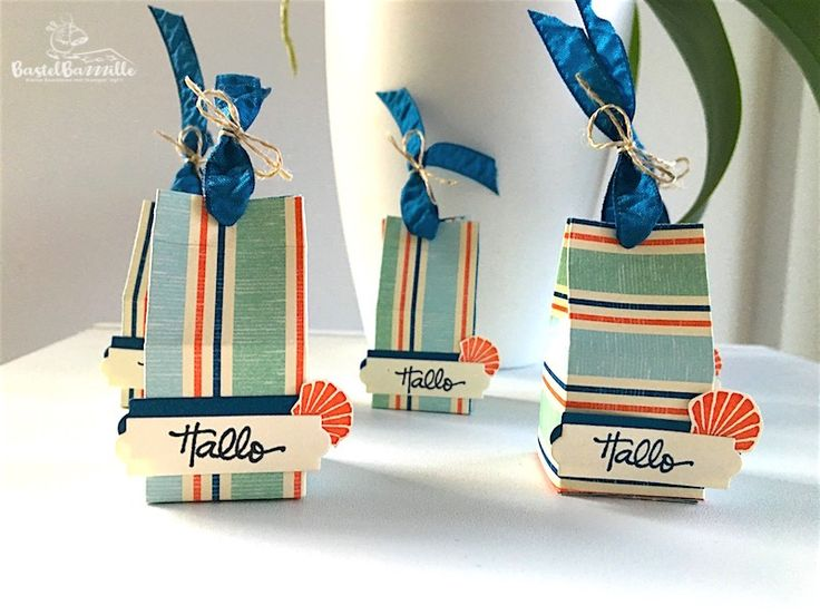 Mini Milk Carton, Milchkarton, Treat Bag, Goodie, Gastgeschenk, Seaside, DSP Am Meer, Designer Series Paper, Ferrero, Maritim, Berlin, Stampin' Up!, SU, Stempeln, stanzen, staunen, Bastelbazzzille