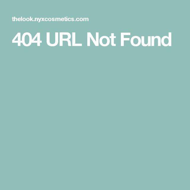 404 URL Not Found