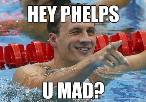 haha. no he isn't. he has 19 Olympic medals as of tonight. so jokes on you.: Stuff, Olympics, Funny, Ryan Lochte, Things, Swimming