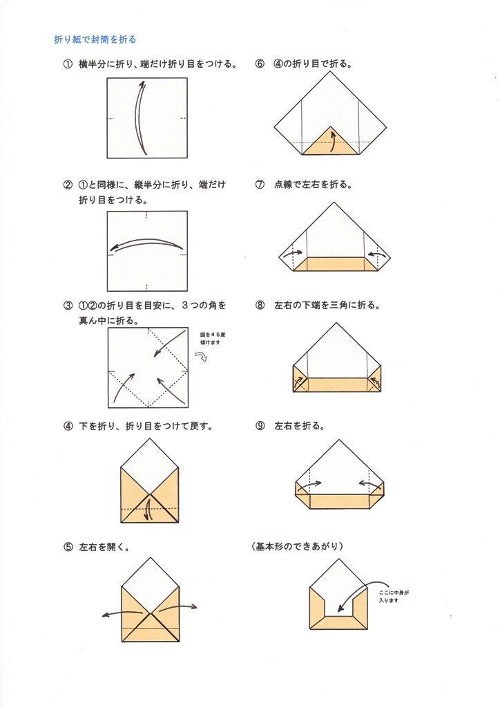 折り紙で封筒を折る