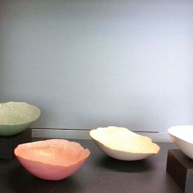 concrete bowls inspired from the sea limpets