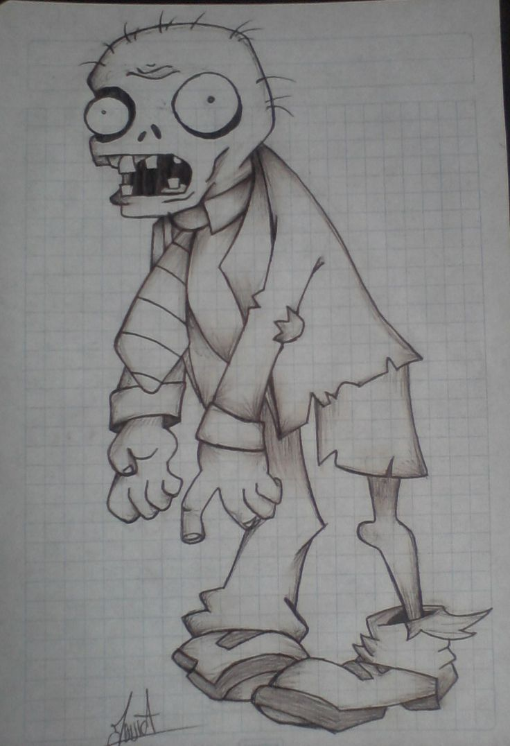 Ms de 25 ideas increbles sobre Dibujos de zombies en Pinterest