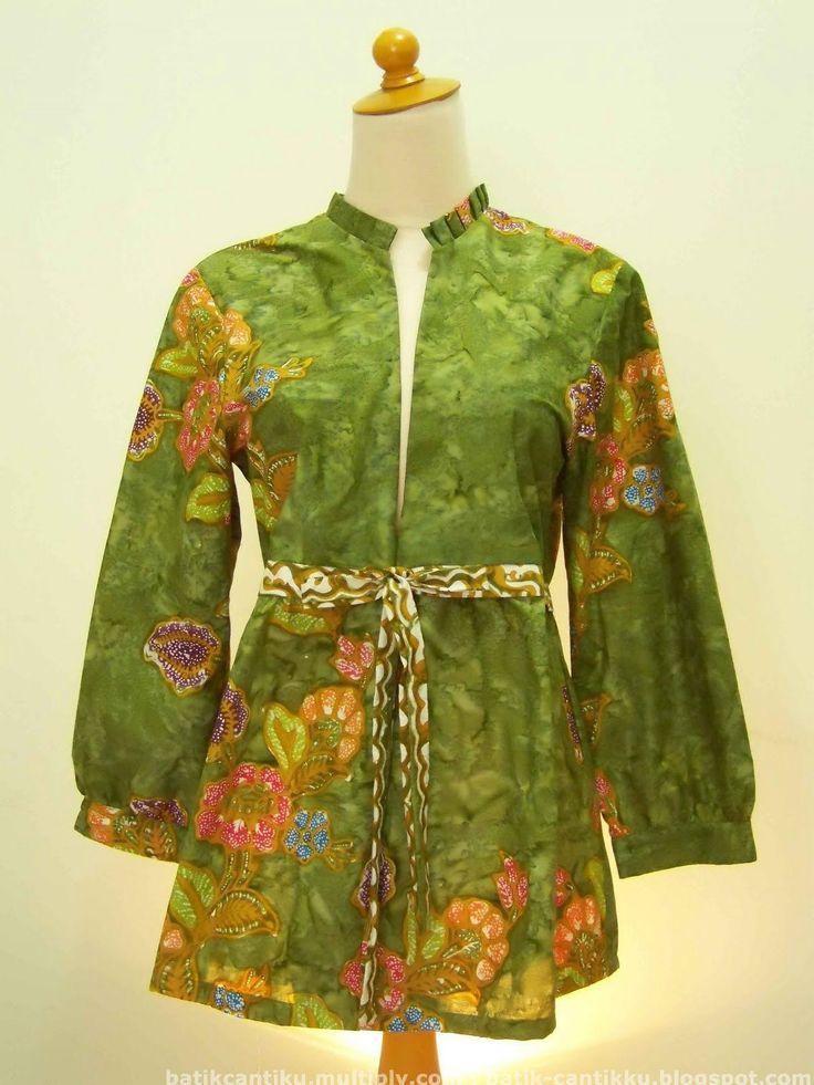 50 Contoh Desain Baju Batik di 2020 | Model baju wanita ...