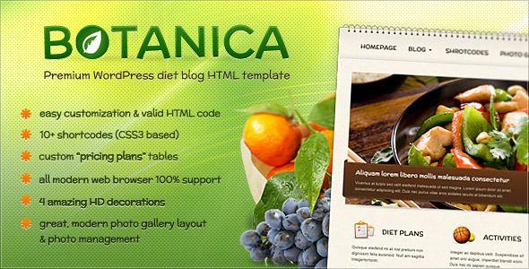 Botanica - Diet & Fietness HTML Template