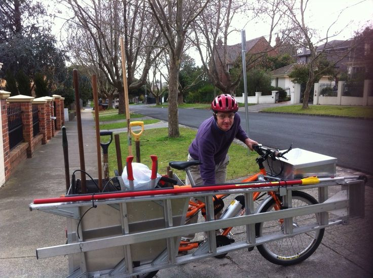 My mother in Melbourne, Australia has part-time help in the garden. He's just given up his van for a bicycle. Meet Bruce the Gardener. © J. Deyzel