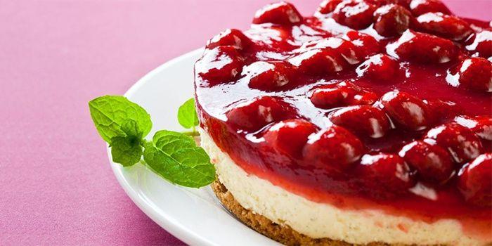 Диетический вишневый пирог
