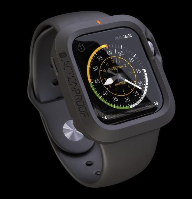 """A brand-new Indiegogo campaign, ActionProof's """"THE BUMPER"""" will offer espia your Apple Watch reloj 360-degree protection and shock absorption. http://mashable.com/2015/03/10/apple-watch-accessories/?utm_cid=mash-com-pin-link"""