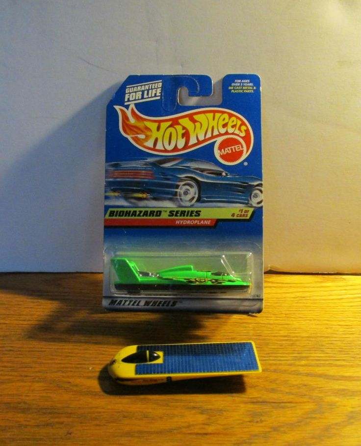 Pair of Hot Wheels,  Unopened BioHazard Series Hydroplane, Cal State LA Solar Eagle Car, Made by Mattel, Vintage Collectible, Male Toy by 1560main on Etsy