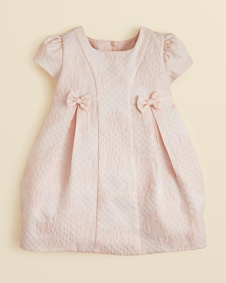 Pippa & Julie Infant Girls' Bow Trimmed Dress - Sizes 0/3-24 Months | Bloomingdale's
