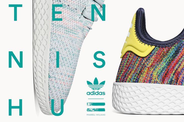 adidas Originals and Pharrell Unveil Multicolor Tennis Hu Colourways | Sidewalk Hustle