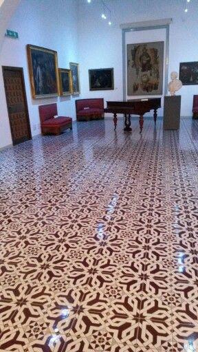 Pavimento Museo Mandralisca Cefalù / Flooring   #cefalù #tile #majolica #comedceramiche #flooring
