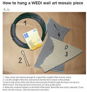 Wedi Board Wedi board (pronounced weedy) is an ideal substrate for mosaic artists. It consists of styrofoam encased in mesh and cement. This sturdy material is very lightweight and cuts easily with a utility knife (no need for any power tools!). Wedi Panels are about ¼ of the weight of Durock and other cement boards, and ½ the weight of MDF or birch plywood.