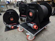 kabelhaspel op wielen, cable reel on wheels, Kabeltrommel auf Rädern. #kabeltrommel, #verlängerungskabel