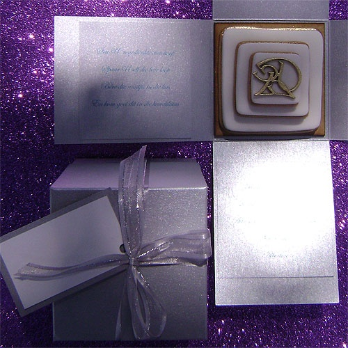 Ref Cake boss silver ( we can do any colour) www.weddingcards.co.za