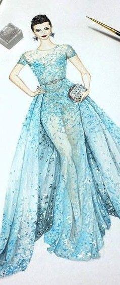 fashion illustration for Zuhair Murad