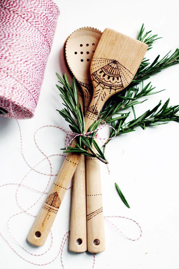 DIY Project: Wood-Burned Serving Spoons
