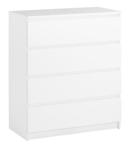 Komoda TRANBJERG 4 zásuvky biela | JYSK