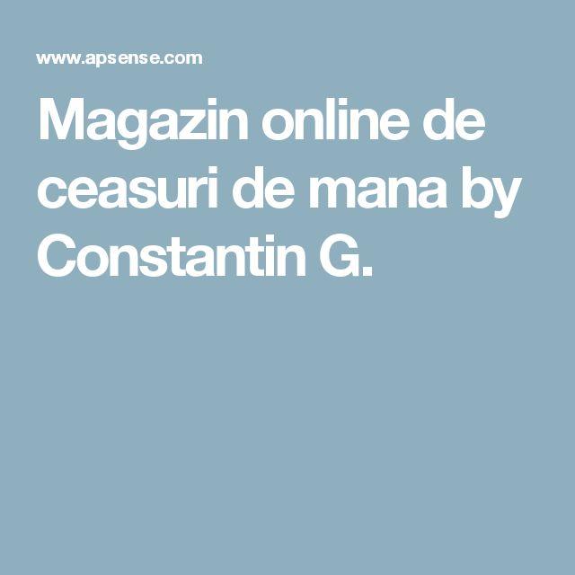 Magazin online de ceasuri de mana by Constantin G.