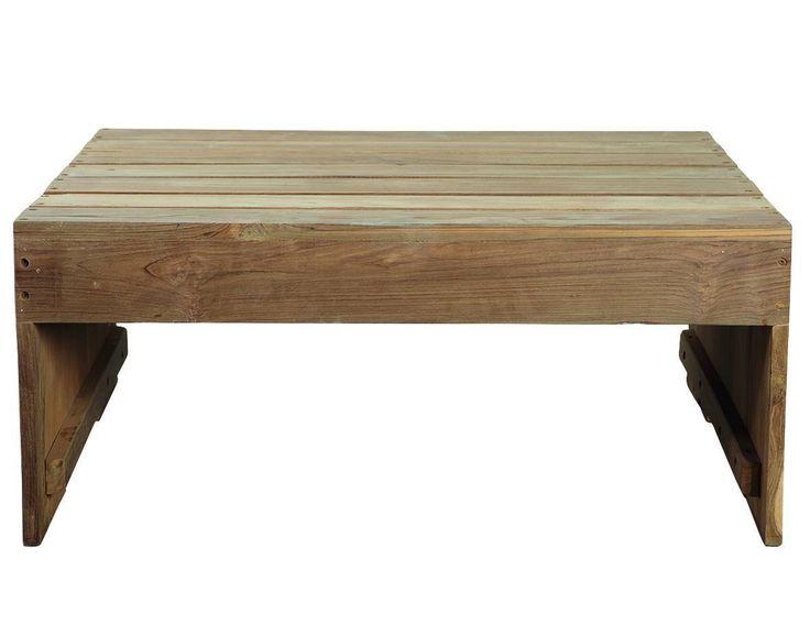 House Doctor Woodie Havebord - Flot og rustikt havebord i flot teaktræ, som giver bordet et naturligt og flot udseende. Anvend bordet som lækkert loungebord på terrassen eller anvend det i stuen som smart sofabord. Det naturlige træ-look vil passe ind i stort set alle hjem og give et cool og naturligt look til indretningen. Kombiner eventuelt med smarte loungestole fra samme serie og fuldfør den rustikke og naturlige stil.
