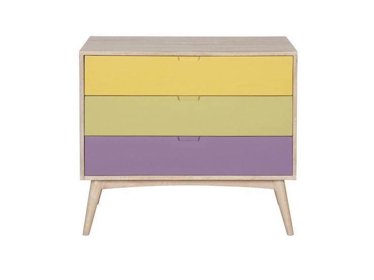 Soft draw - Χειροποίητη συρταριέρα με μίνιμαλ design από μασίφ ξύλο μάνγκο  Διαθέτει 3 συρτάρια (με οδηγούς)
