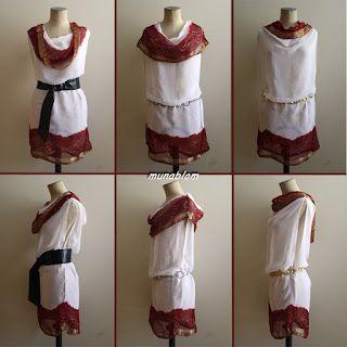 Layla 02: Abito in Sari Indiana; portato orizzontalmente diviene un poncho con maniche lunghe.