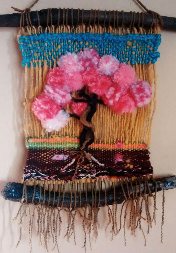 Árbol en primavera, tapiz en lana.