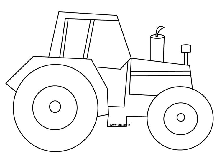 tractor pictures to print and color | tractor coloring page ready to be printed