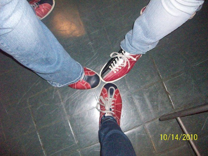 Another bowling shoe picture from Christmas Bowling