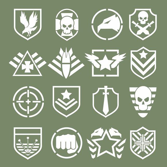 Military logos of special forces by Microvector on @creativemarket