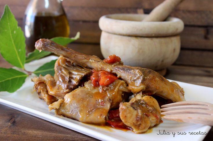 conejo, conejo en salsa, conejo campero, Julia y sus recetas, carnes
