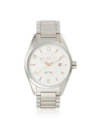 Officina del Tempo Men's OT1037/412AG Elegance Silver/White Stainless Steel Watch
