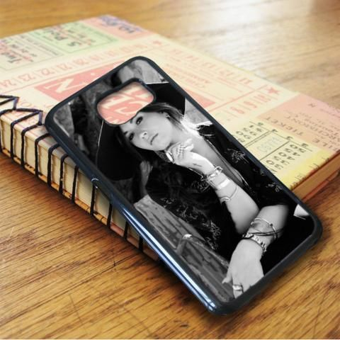 Demi Lovato Black And White Hat Samsung Galaxy S6 Case