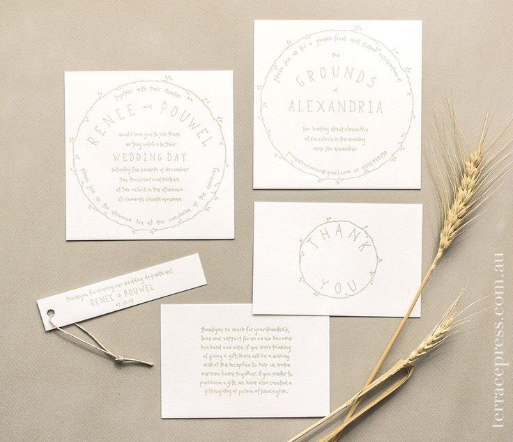 Renee & Pouwel's rustic wedding suite #letterpress #terracepress #wedding #stationery #invitation #weddingsuite