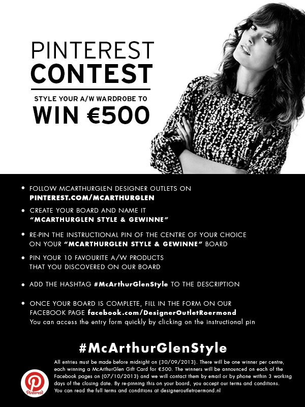 take part in our giveaway and win a €500 voucher for your Designer Outlet