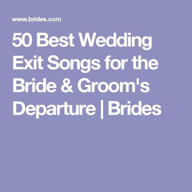 Best 25+ Wedding Exit Songs Ideas On Pinterest