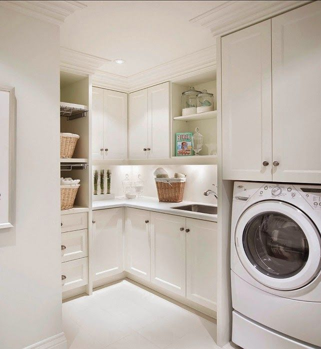 276 best laundry images on pinterest laundry detergent for White laundry room cabinets home depot