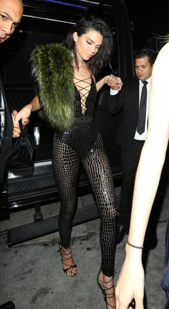Kendall Jenner looking stunning in one of her birthday looks. (Photo: Splash News)