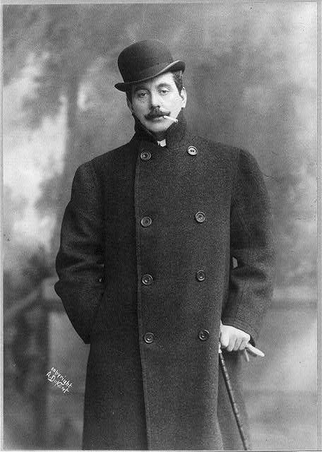 April 8, 1908 Giacomo Antonio Domenico Michele Secondo Maria Puccini (1858-1924) Italian composer whose operas include: La bohéme, Tosca, Madama Butterfly, Turandot