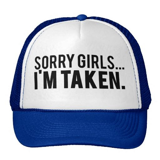 SORRY GIRLS I'M TAKEN>> Wedding Groom Trucker Blue White Hat BACHELOR PARTY Gift   #wedding #groom