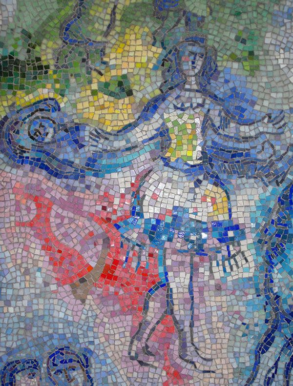 317 best fresco mosaic images on pinterest vernacular for Chagall mural chicago