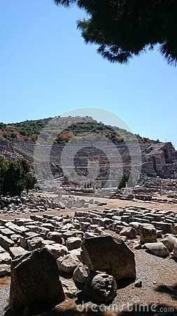 The most important and largest theater in Ephesus, Selçuk, İzmir.