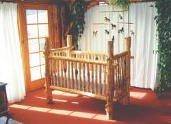 The log crib that inspired the one we built for our son!