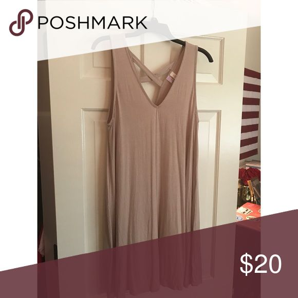 Nude T Shirt Dress Never worn dress! Has a small x on back that is cut out! Bought at a boutique Dresses Strapless